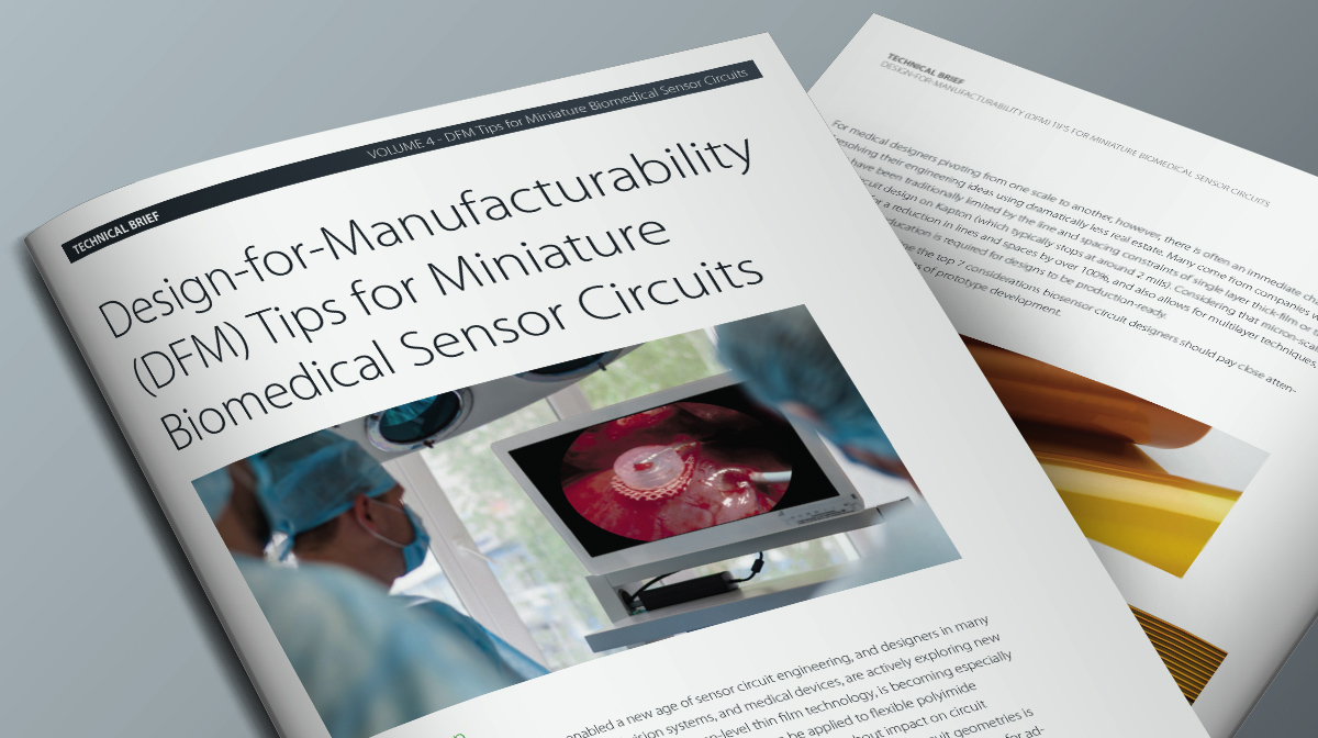Design-for-Manufacturability (DFM) Tips for Miniature Biomedical Sensor Circuits