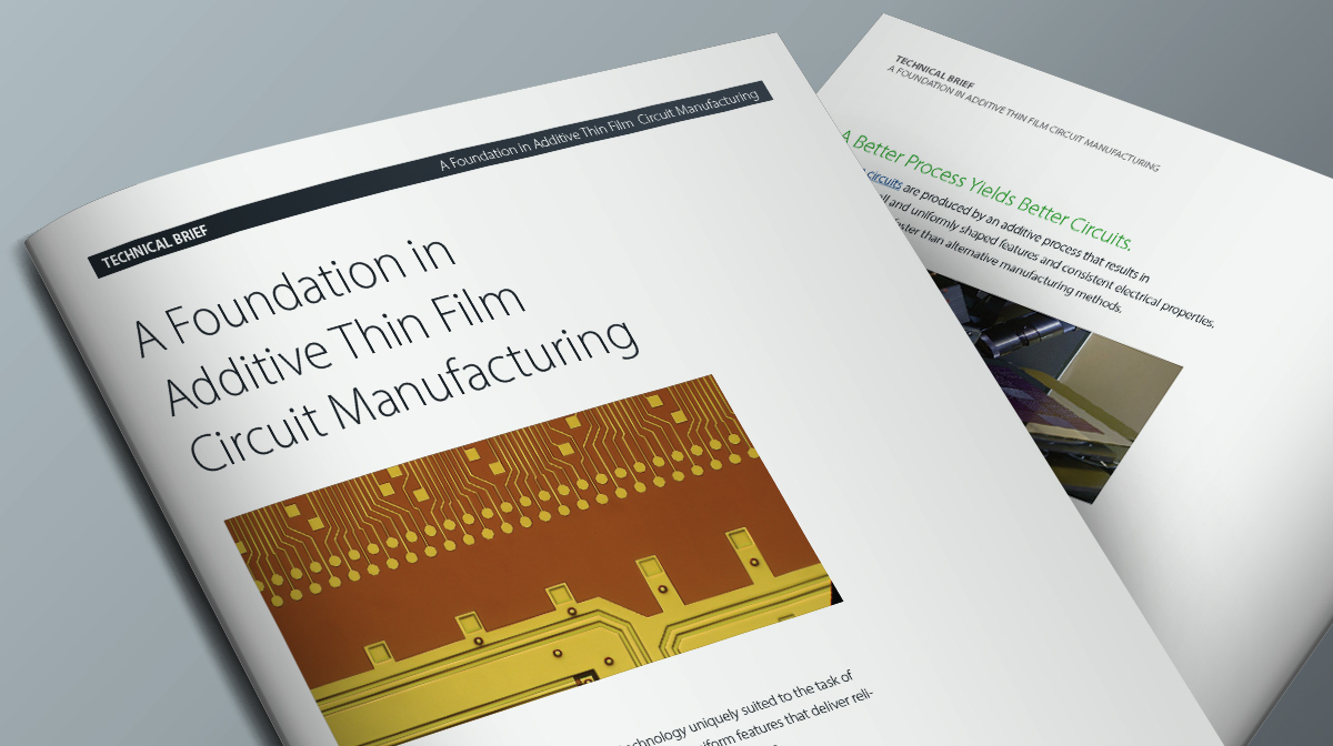 A Foundation in Thin Film Circuit Manufacturing